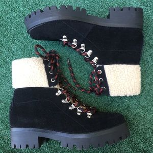 NWt Steve Madden Bitter Boot Suede Black 9.5